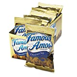 Famous Amos Cookies, Chocolate Chip, 2oz Snack Pack, 8 Packs/Box - Sold As 1 Box