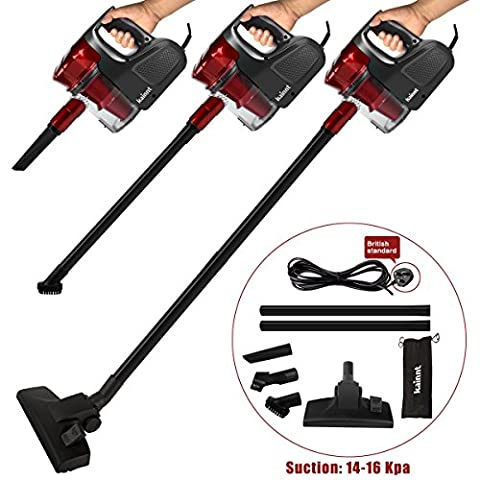 Kainnt Upright Vacuum Cleaner with Bag,Handheld Vacuum Cleaner,600W 14-16KPA Red with a Portable