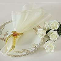 Wedding fashion napkin wedding banquet celebration transparent snow gauze napkin white champagne black 10 pieces,White