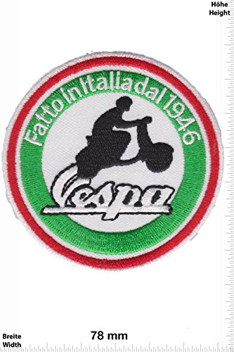Patch - Vespa - Fatto in Italiadal 1946 - Roller - Scooter - Motorrad - Motorbike - Motorsport - Motorcycles - Racing Team - Biker -Patches - Aufnäher Embleme Bügelbild Aufbügler Roller-patch