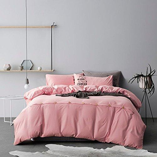 Baumwolle Münze Kit 1,5 -1,8 m m Bettwäsche ist universal 200*230cm Kirschblüten, pink, 4-teiliges Set (Bettwäsche Münze)