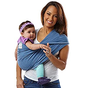 51S5LE0q%2BlL. SS300  - Baby K'tan Cotton Denim Baby Carrier (XS)