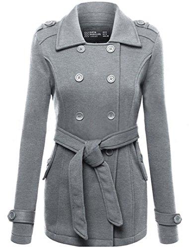 EVERY Damen Wintermantel Parka coat Trenchcoat Winterjacke Übergangsjacke Mantel Jacke Grau