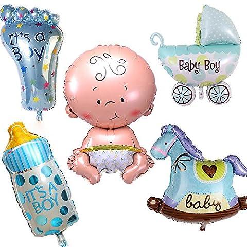 Kit 5x Ballon Air Ballon gonflable naissance bébé enfant garçon Fête Baby Shower