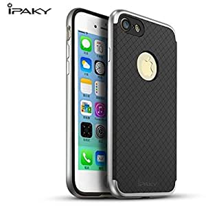 *ORIGINAL*iPAKY* Slim PC+TPU Hybird Back Cover Case For Apple iPhone 7 Plus * (Silver)