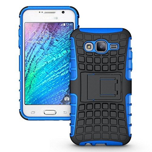 Dashmesh Shopping Hybrid case for Samsung Galaxy J2, Shock Proof Protective Rugged Armor Super Hybrid Heavy Duty Back Case Cover for Samsung Galaxy J2 – Royal BLUE