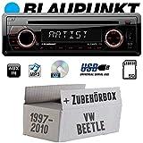Autoradio Radio Blaupunkt Alicante 170 - CD/MP3/USB - Einbauzubehör - Einbauset für VW Beetle 1 9C - JUST SOUND best choice for caraudio