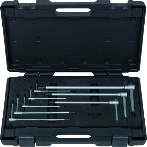 KS Tools 158.5100 3-Wege T-Griff-Innensechskant-Schlüssel-Satz, 8-tlg.