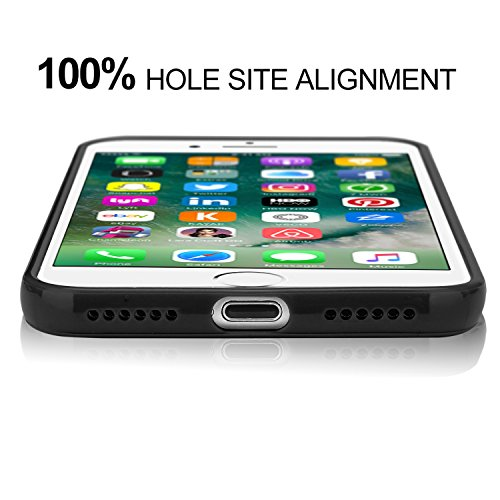 iPhone 7 Hülle, APICI TPU Jelly Snap on Gel Soft Hülle Case Tasche Schutzhülle für Apple iPhone 7 in Turquoise (Turquoise) Schwarz