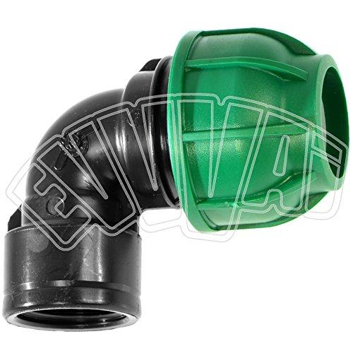 '16mm x 1/2weiblich–Winkel 90Grad Kompression Rohr PN Bewässerung