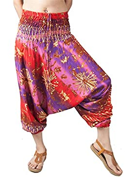 Lofbaz Mujeres Harén Hippie Pantaloni de la pantalones hippietilo boho chic