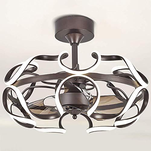 Luz de ventilador de techo LED Sala de estar Comedor Dormitorio Iones negativos Luz de ventilador invisible 6 Velocidad de conversión de frecuencia de archivos Luz de ventilador ultra silenciosa