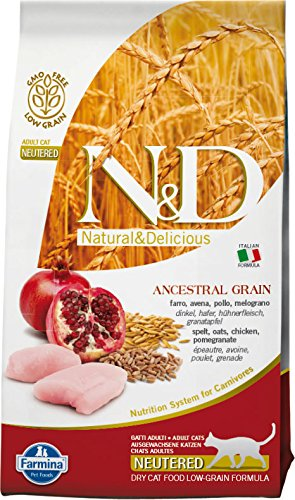 Farmina (Russo Mangimi) - Natural & Delicious Low Ancestral Grain Neutered Adult con Pollo e Melograno Sacco 1,50 kg