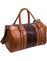 Cabin Size Duffle Bag - Killer Jamaica Tan PU 30 Litre Stylish Tan Duffle Bag