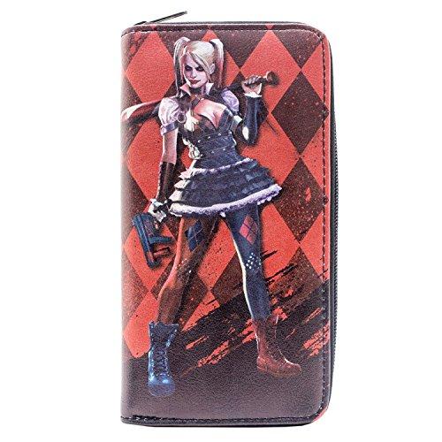 Quinzel Harleen Kostüm - Harley Quinn Arkham Knight Diamant Schwarz Portemonnaie Geldbörse