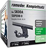 Rameder Komplettsatz, Anhängerkupplung abnehmbar + 13pol Elektrik für Skoda SUPERB II (112967-07588-1)