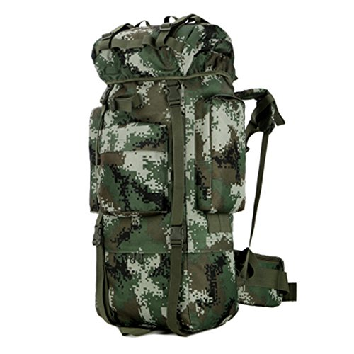 Dlflyb Outdoor 100 L Mountaineering Bag Militärischen Fans Farbdoppler Ultraschall Grossen Rucksack Rucksack Mit Hoher Kapazität Jungle digital