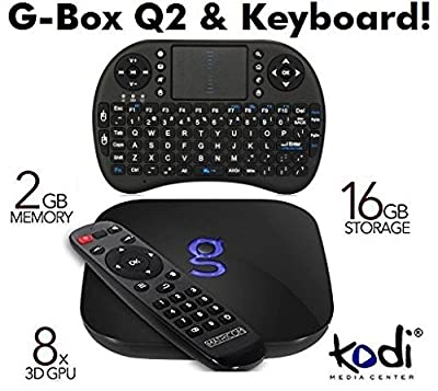 Matricom G-Box Q2 Quad / Octo Core Android TV Box [2GB / 16GB / 4K] Gbox Streaming Media Mini PC. New Q Revision 2 Model with s812 CPU Comes with XstreamTec Wireless Mini Keyboard!
