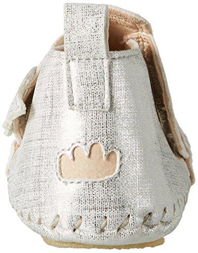 Easy Peasy Bomok Aile Prin, Chaussons pour enfant mixte bébé Silber (blanc filament argent)