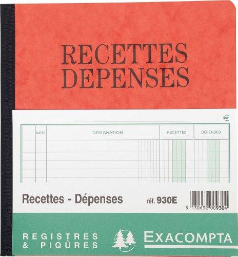 exacompta-930e-recettes-depenses-80-pages-couleur-aleatoire