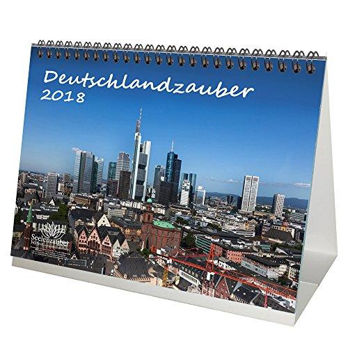 Premium Tischkalender / Kalender 2018 · DIN A5 · Deutschlandzauber · Deutschland · Stadt · Sehenswürdigkeiten · Geschenk-Set mit 1 Grußkarte und 1 Weihnachtskarte · Edition Seelenzauber