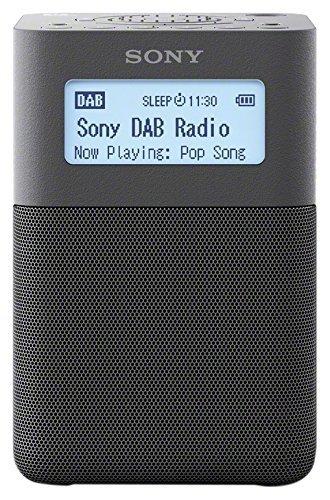 Sony XDRV20DH.EU8 - Radiodespertador Digital portátil (Dab/Dab+/FM, Altavoces estéreo, 5 presintonías Digitales y 5 analógicas, Temporizador, batería integrada) Gris