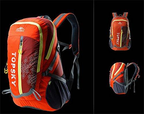 Leichte Tasche Männer und Frauen im Freienbergrucksack Ultraleichtwanderrucksack Orange