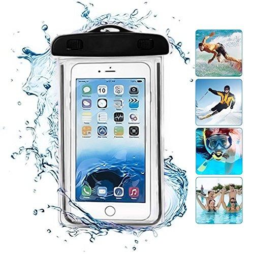 Fone-Case (Purple) Apple iPhone 8 Plus Sac étanche Caméra Mobile universelle d'étui pochette lumineux sec avec couverture tactile subaquatique système étanche écologique avec construction TPU Black
