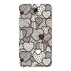 Neo World Brown Heart Back Case Cover for Galaxy Note 3 Neo