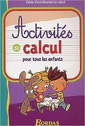 ACTIVITES DE CALCUL CP/CE    (Ancienne Edition)