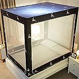 XRXY Yurt Stampa Antipolvere Top Zanzariera / Camera da letto Creativa Acciaio inossidabile Zanzariera stabile / Crittografia multifunzione Addensare Anti Copertura della zanzara (2 colori disponibili) ( Colore : B , dimensioni : 2.0M )