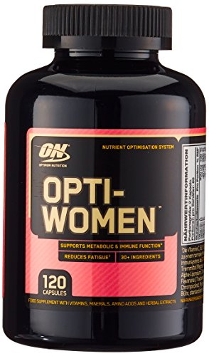 Optimum Nutrition Optiwomen- Multivitamin und Mineralien Tabletten (mit Vitamin D, Vitamin C, Vitamin A und Aminosäuren, Multivitaminen von ON) Unflavoured, 60 Portionen, 120 Kapseln