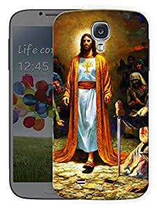 "Ulta Anda Jesus Christ - God Printed Designer Mobile Back Cover For ""Samsung Galaxy S4"" (3D, Matte Finish, Premium Quality, Protective Snap On Slim Hard Phone Case, Multi Color)"
