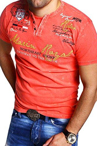 MT Styles Vintage T-Shirt VT-MARIN R-2482 Coral