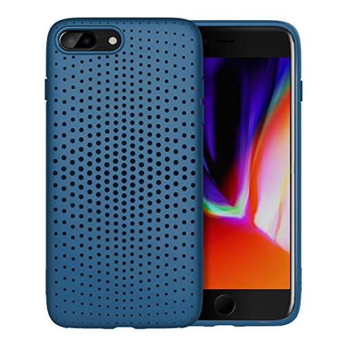 Philip Peacoc Dot-Serie für iPhone 8 Plus & 7 Plus Mesh-Stil TPU atmungsaktive Soft Protective Back Cover Case (Großauswahl : Ip8p7031l) -