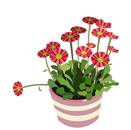 Red Flower Pot Cartoon Room Decoration Wall Decal Home Toilet Seat Stickers 20x21cm 2pcs - Red Flower Pot
