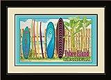 Northwest Art Mall ed-5803mfgdm klare Kante/SRN Tybee Island Florida Surfbrett Rental gerahmtes Wandbild Kunst von Künstlerin Evelyn Jenkins Drew, 33x 40,6cm