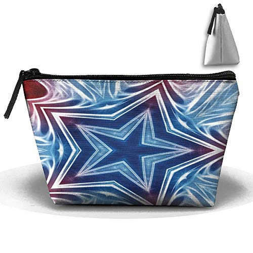 A Swirl of Colored Stars Personality Portable Women Trapezoid Travel Bag Cosmetic Bag Receive Bag -