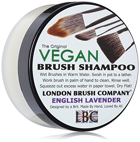 LONDON BRUSH COMPANY Vegan Young Coconut Milk Shampooing Solide pour Pinceau de Maquillage English Lavender