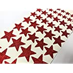 46 Glittery Red STAR Stickers in varying Sizes from 12mm to 26mm
