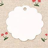 Doitsa 100 Stück Geschenkanhänger Papier Tags für Geschenke zum Basteln als Preis-Etiketten leeren diejenigen Geschenk Tags Hochzeit Party Etikett DIY Deko Weiß
