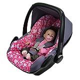 BAMBINIWELT Ersatzbezug für Maxi-Cosi PEBBLE 5-tlg, Bezug für Babyschale, Komplett-Set *NEU* GRAU PINK KATZEN