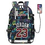 Joueur de Basket-Ball Star Michael Jordan Sac à Dos Multifonction Voyage étudiant Sac à Dos Fans Bookbag pour Hommes Femmes (Style 6)