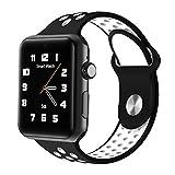 Joyeer Smart Watch reloj de pulsera hueca teléfono con tarjeta SIM Llamar mensaje Push Pedometer Sedentary Reminder Sleep Monitor remoto de la cámara Multiple UI Smartband para Android IOS , black gray