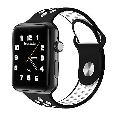 Joyeer Smart Watch Hollow Strap Phone Watch avec carte SIM Dial Call Message Push Podomètre Rappel sédentaire Sleep Monitor Caméra à distance Multiple UI Smartband pour Android IOS , black gray