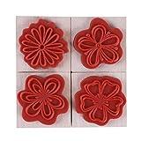 Eleusine Siegel Jahrgang Floral Lace Pattern Stempel Holz Runde Gummi Stamper Handwerk