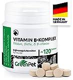 GreenPet Power Me 120 Compresse per Cani, Complesso di Vitamina B, 8 Vitamine e Minerali del Gruppo B, Ricco di Biotina e Folato, Sostiene ed è Delizioso