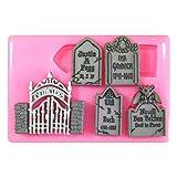 Friedhof Graveyard Halloween Silikon Form für Kuchen Dekorieren, Kuchen, kleiner Kuchen Toppers, Zuckerglasur Sugarcraft Werkzeug durch Fairie Blessings