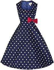 Lindy Bop 'Leda' Millésime 1950's Thé Chambre Polka Point Swing Robe