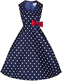 Lindy Bop 'Leda' Millésime 1950's Thé Chambre Polka Point Swing Robe